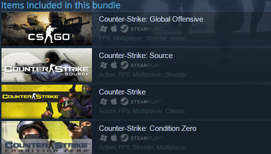 Counter-Strike Complete CS GO 1.6 (Steam Gift / RU CIS)
