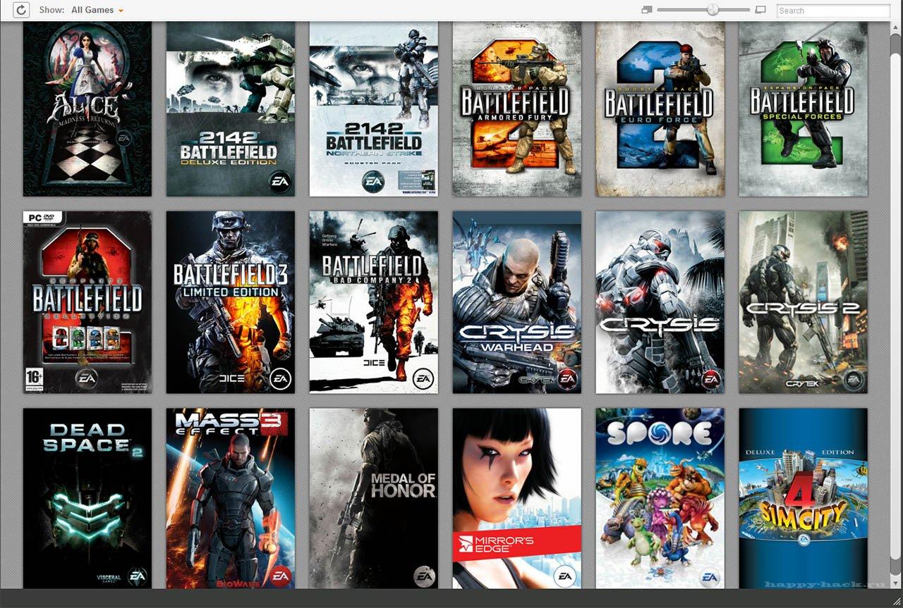 Аккаунт Origin от 5 игр
