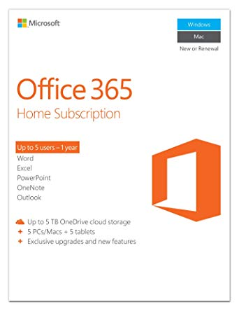 Office 365 for Home 5 PC 1 year + Coupone