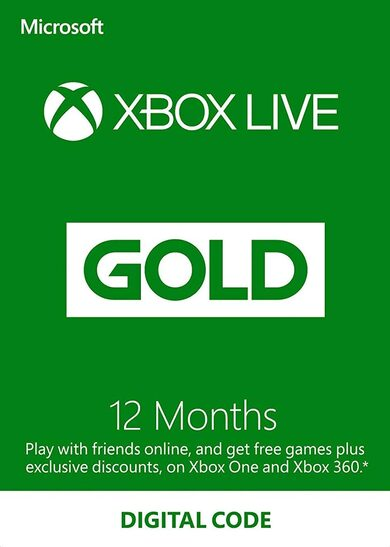 Xbox Live - 12 Month gold card (MS POINTS) REGION FREE