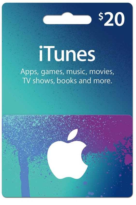 ITUNES GIFT CARD $20 USA + BONUS