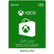 XBOX LIVE GIFT CARD 25 USD (USA) + BONUS