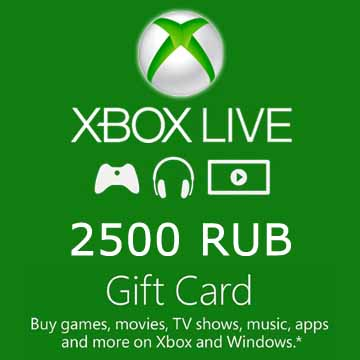 Xbox LIVE (Microsoft Points) Card 2500 rub. (RUS)