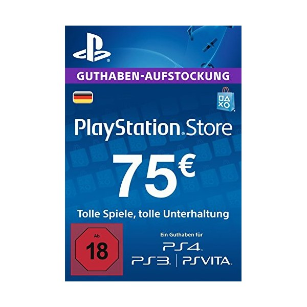 PLAYSTATION NETWORK (PSN) - 75 EUR (DE) + BONUS