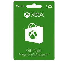XBOX LIVE GIFT CARD 25 GBP (UK) + BONUS