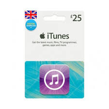 ITUNES GIFT CARD 25 GBP UK + BONUS