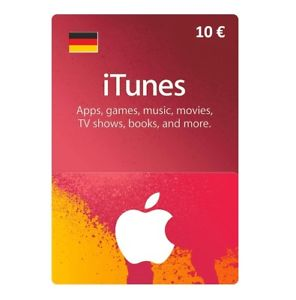 ITUNES GIFT CARD 10 EUR DE (GERMANY) + BONUS