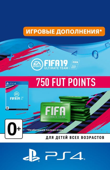 FIFA 19 Ultimate Team FUT 750 Points - PS4 RU