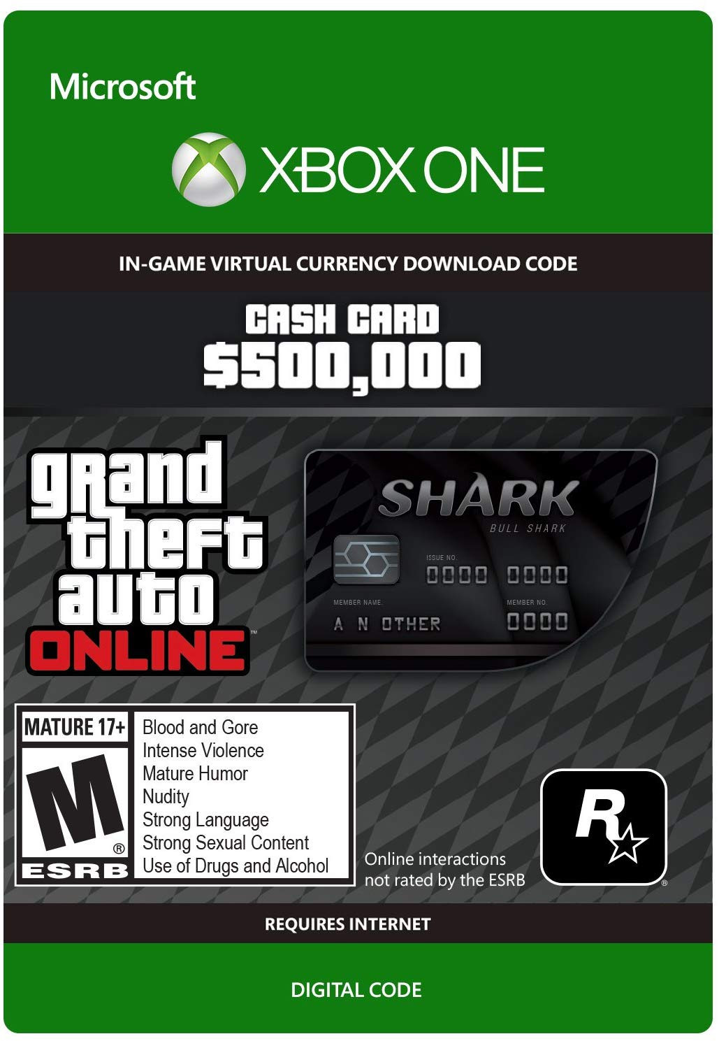 Bull Shark Cash Card 200,000$ GTA V XBOX EUROPE