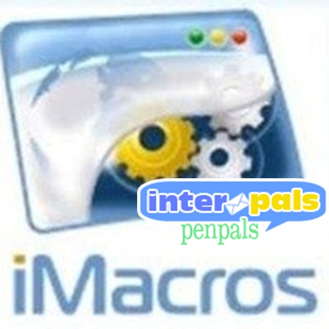 Скрипт iMacros для сайта interpals.net