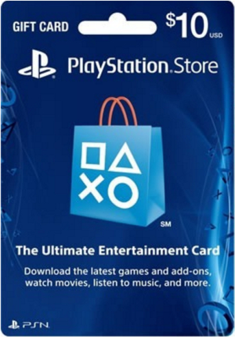 PSN 10$ PlayStation Network Card (USA)