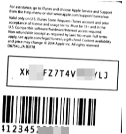 iTunes giftcard 15$ [Scan Card] 5% Off 🔥