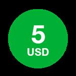 5 долларов - Ваучер пополнения Mitraphone