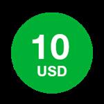 10 долларов - Ваучер пополнения Mitraphone