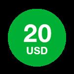 20 долларов - Ваучер пополнения Mitraphone