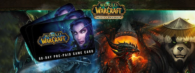 World of Warcraft 60 days Time Card Prepaid USA