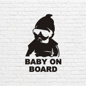 Baby On Board in vector