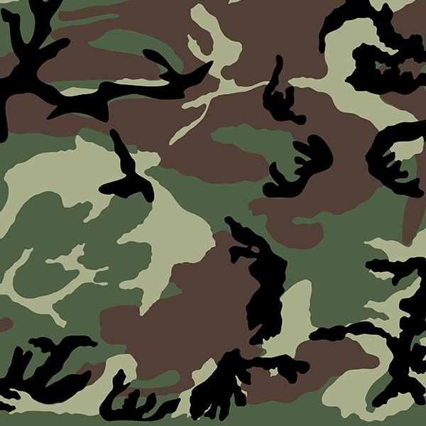 Set stencils for camouflage Woodland