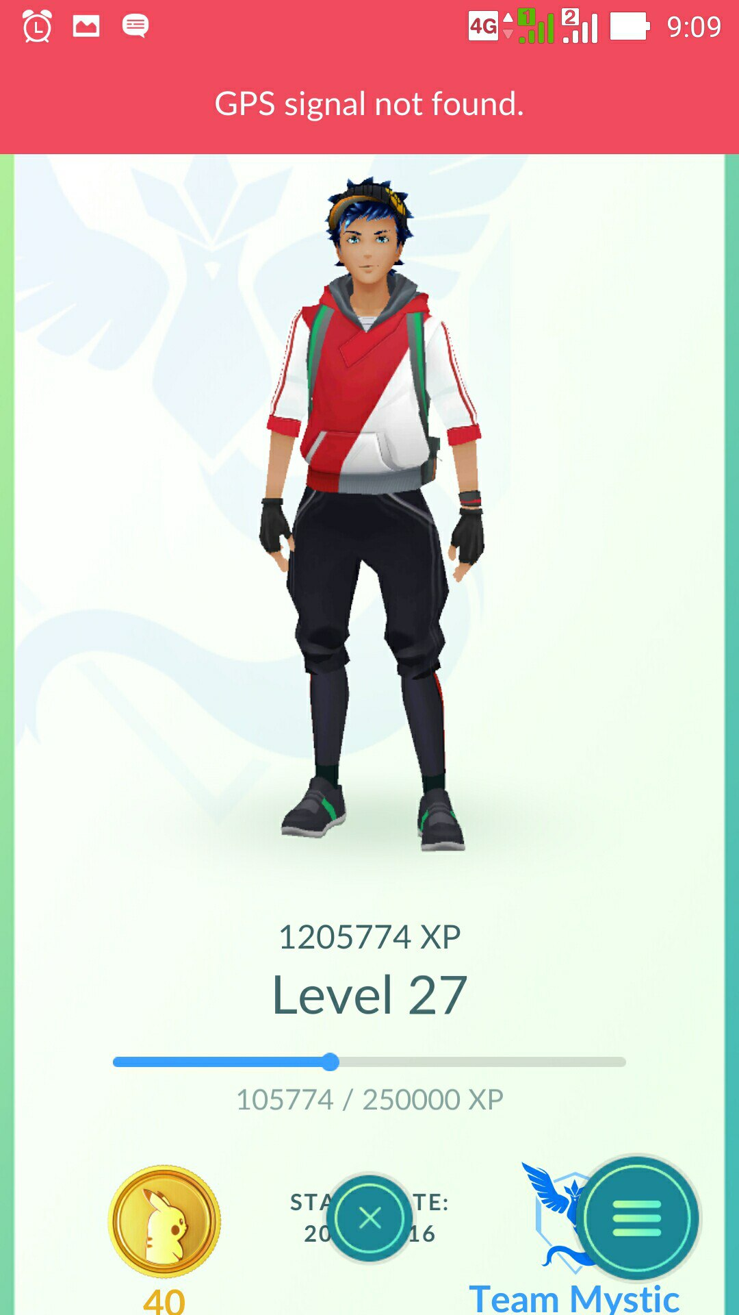 accounts PokemonGO from 24lvl to 27lvl
