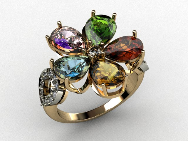 "Finished jewelry 3D model of the ""Ring"" - 0003"
