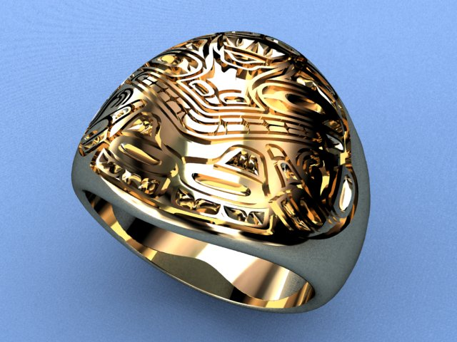 "Finished jewelry 3D model of the ""Ring"" - 0006"