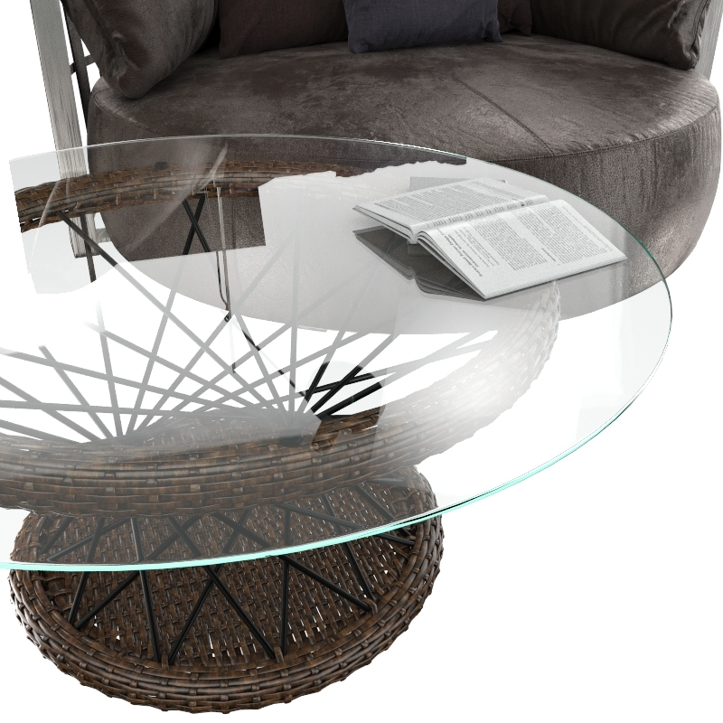 Round sofa And Coffee table