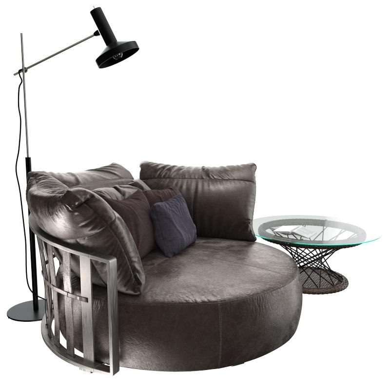 Awe Inspiring Round Sofa And Coffee Table Inzonedesignstudio Interior Chair Design Inzonedesignstudiocom