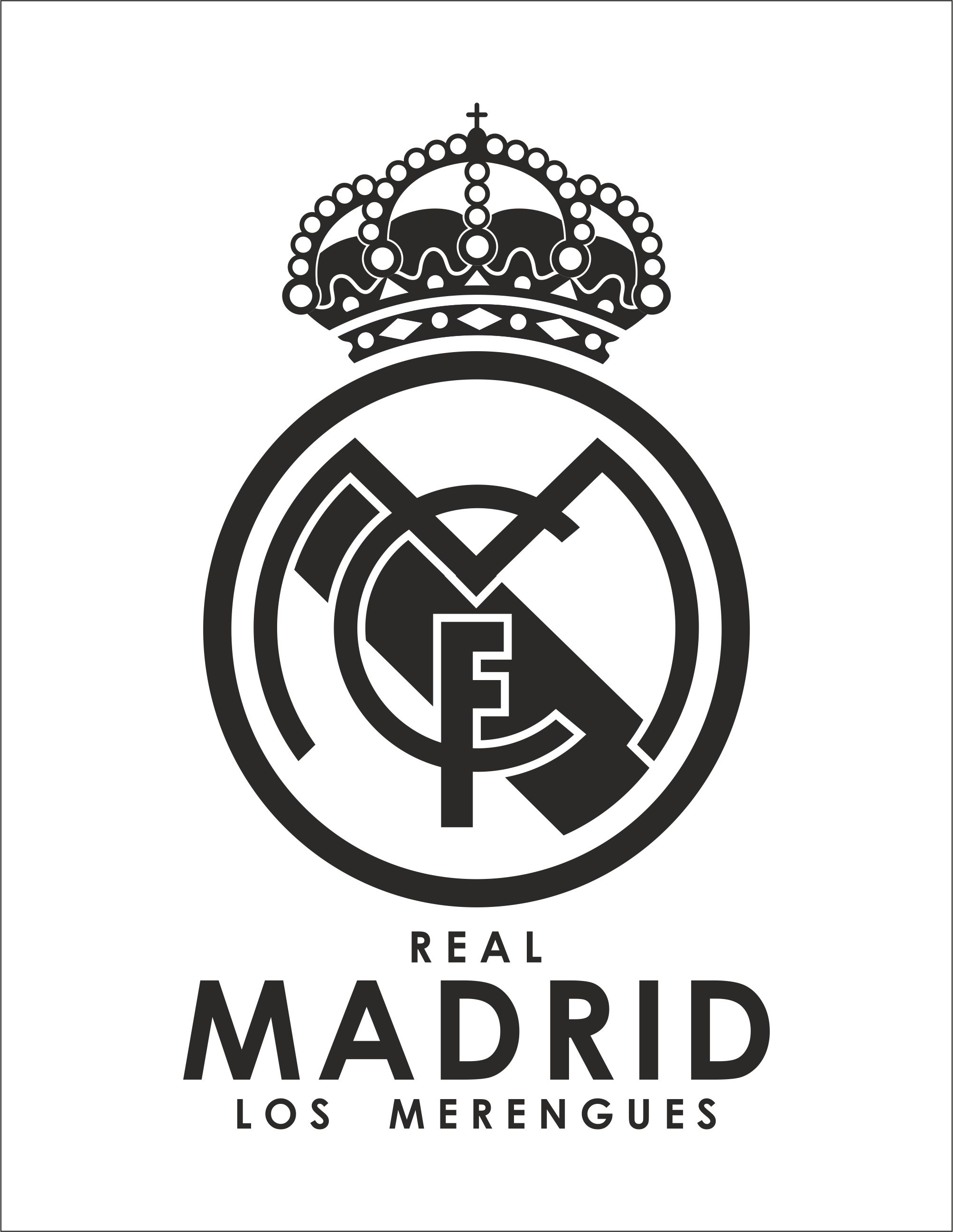 Real Madrid vector image in Corel Draw