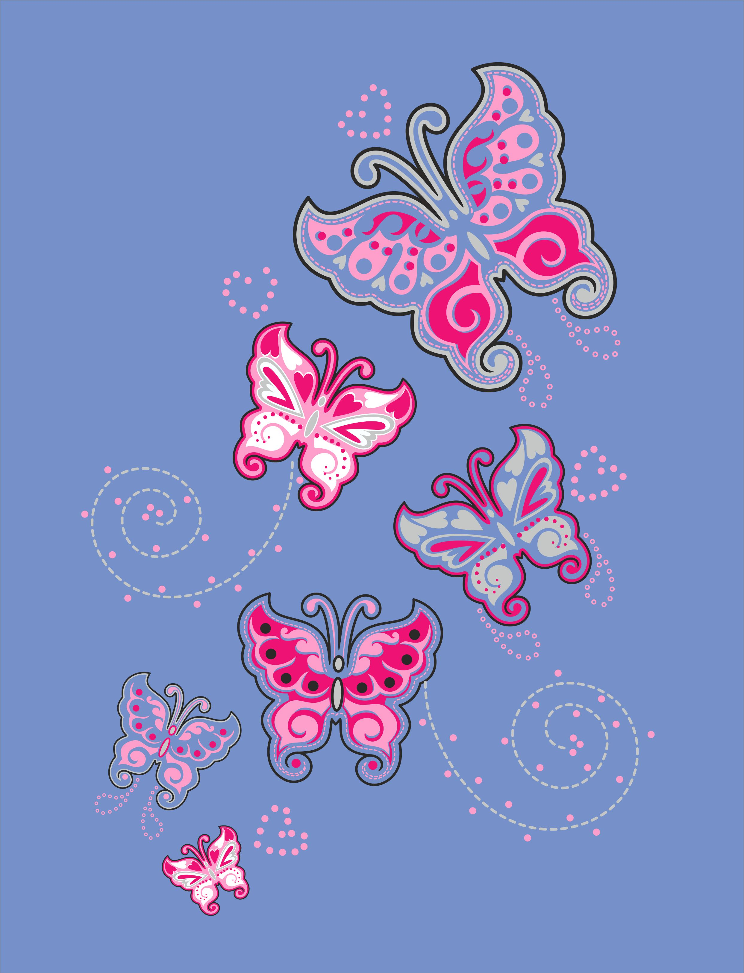 Butterfly vector image in Corel Draw