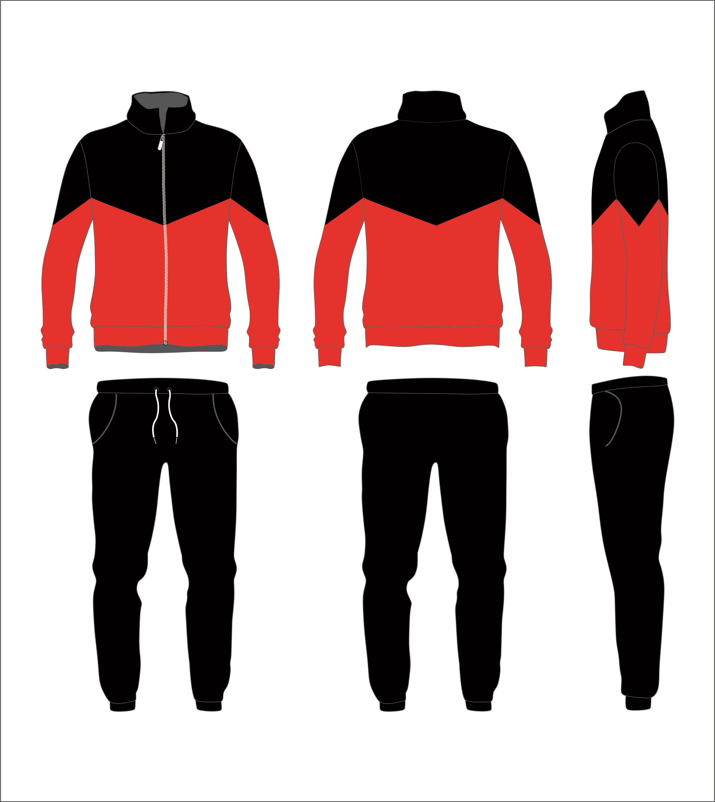 Sports suit in vector