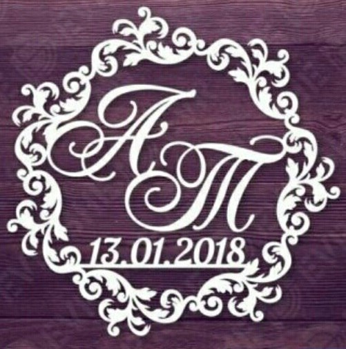 Monograms for cutting