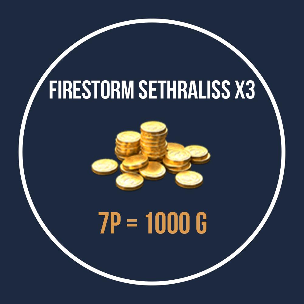 Gold Firestorm Sethraliss x3 2019