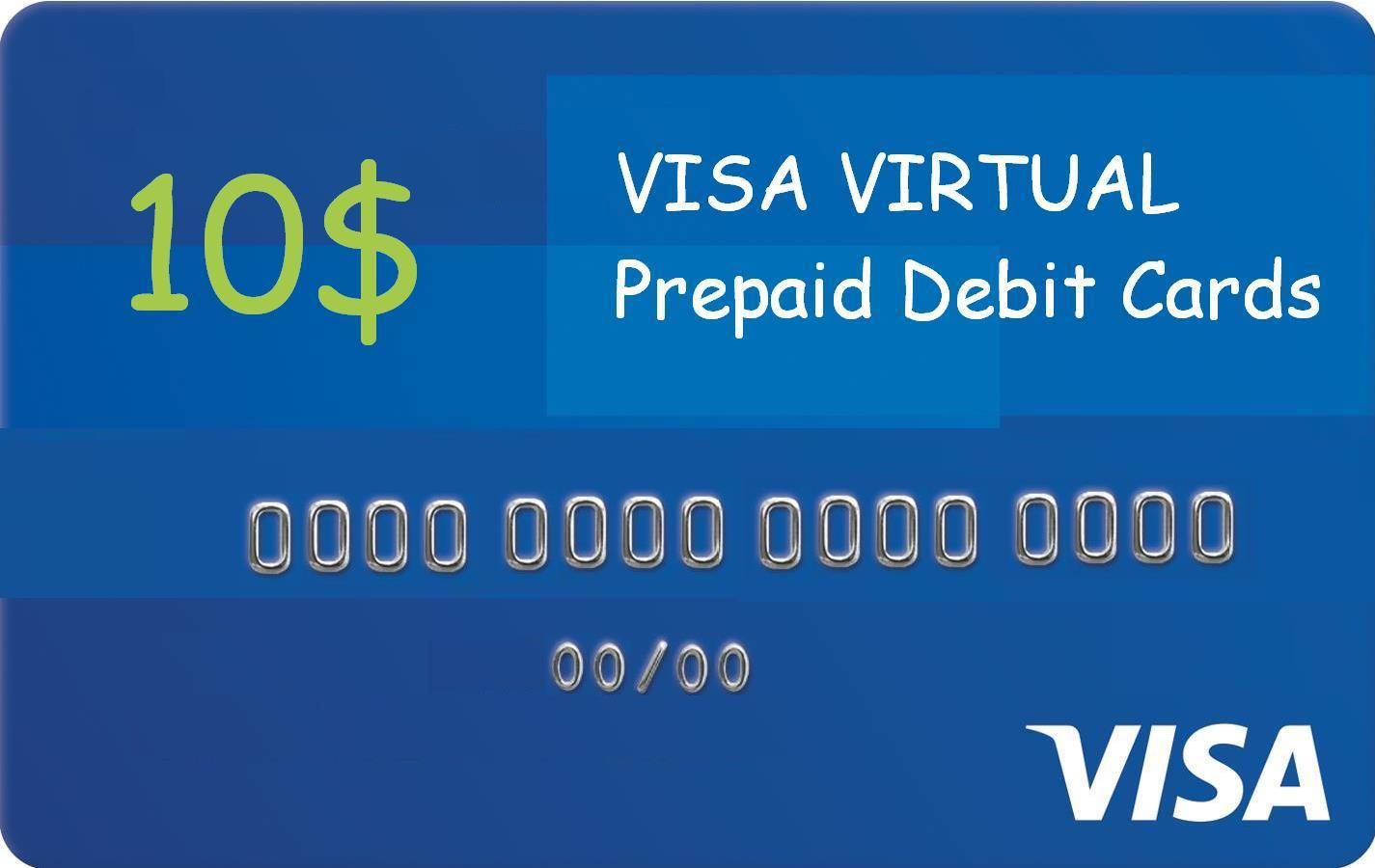 Visa Virtual Debit Card. From 10 to 100 USD.