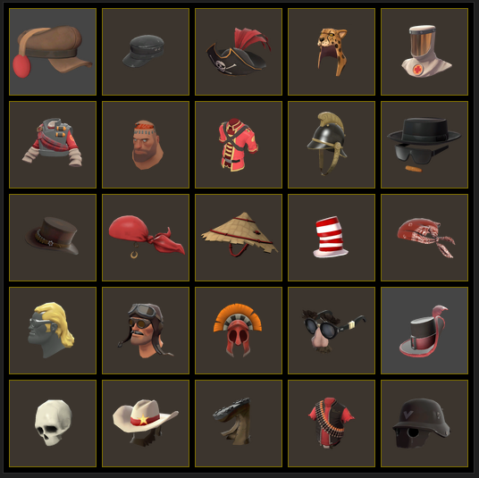 Random Team Fortress 2 Hats
