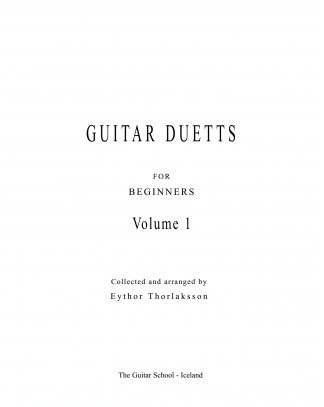 "E.Torlakson ""Duets for Guitar for Beginners"" Part 1"