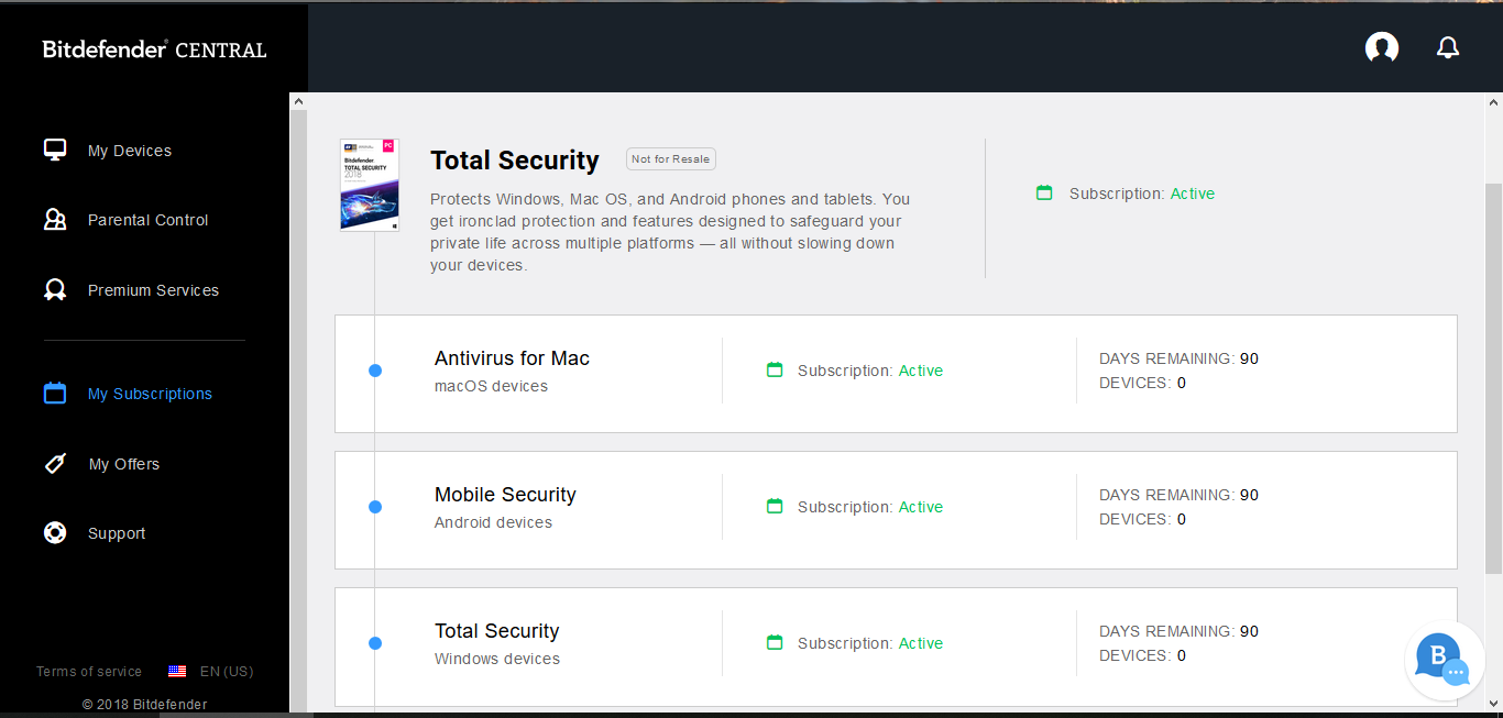 Bitdefender Total Security 2019 6 months 5 devices