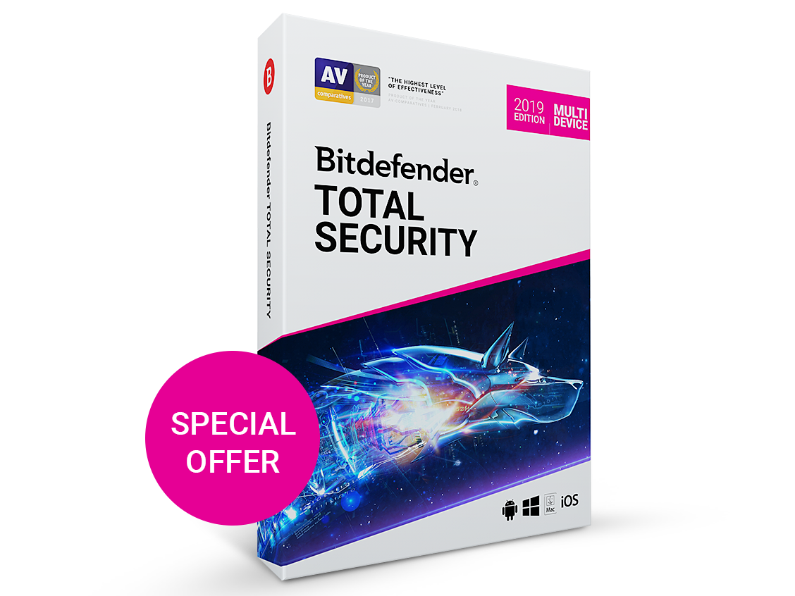 Фотография bitdefender total security 2020/2019 3 месяцев 5-pc