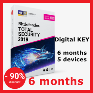 Bitdefender Total Security 2020/2019 180d 5-PC KEY