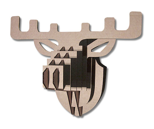 vector file of Elk  cardboard head template