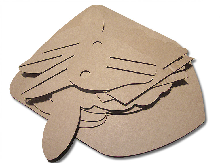vector file of Sheep cardboard head template