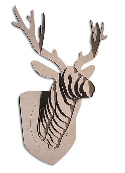 vector file of Deer cardboard head template
