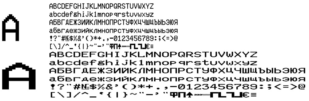 "KKM fonts set of 4 ""RETAIL"" FELIX-RK ver.4 and 7"