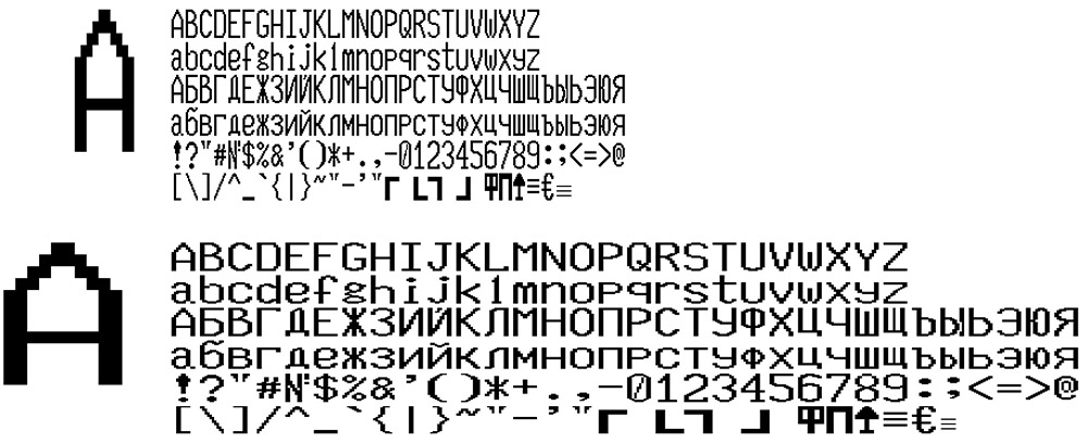 "KKM fonts set of 4 ""RETAIL 2"" FELIX-RK ver.4 and 5"