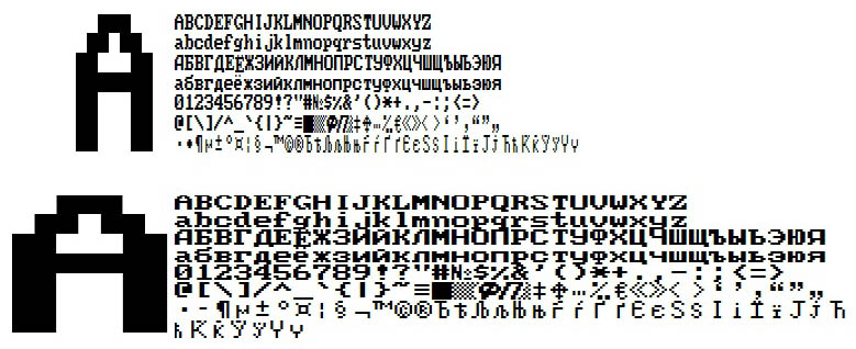 Font KKM SHTRIH-MINI, ELVES-MINI(ttf)