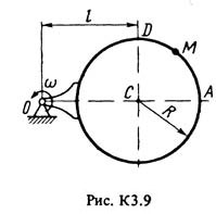 K3 Option 91 on the theoretical mechanics Targ SM 1983