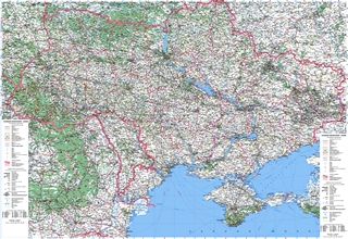 Road Map of Ukraine and Moldova