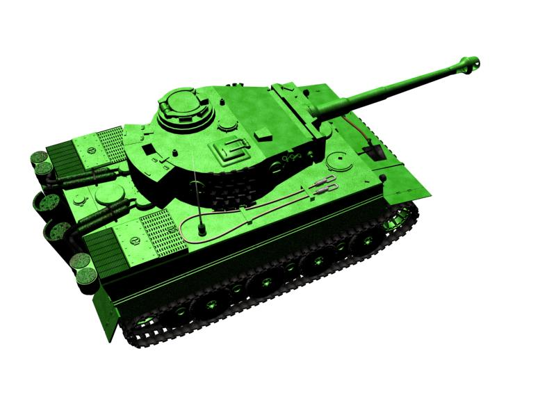 "3D model of the tank PZ6 ""TIGER"""