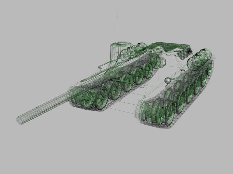3D-model of self-propelled artillery SU-85