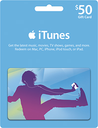 iTUNES GIFT CARD - $50 - (USA) DISCOUNTS