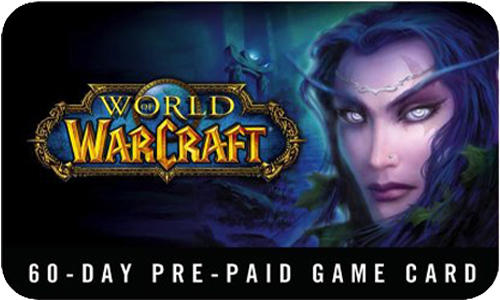 World of Warcraft WOW EURO Time Card 60 days